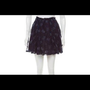 Band of Outsiders Silk Floral Skirt